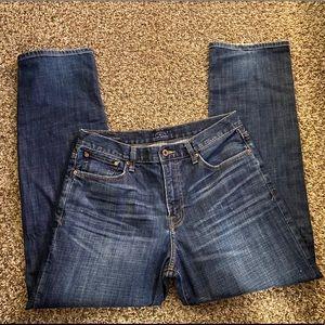Lucky Brand straight leg jeans pants 34 x 32